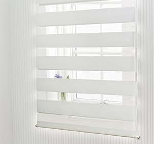 store enrouleur tamisant rideau voilage jour nuit pare vue blanc neuf 60 x 150 cm. Black Bedroom Furniture Sets. Home Design Ideas