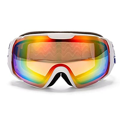 SUNVP High Performance Snow Goggles Windproof Uv400 Dual Layer Anti-fog Optical Lens | Helmet Compatable Motorcycle Snowmobile Eyewear Sports Glasses Ski and Snowboard Goggles