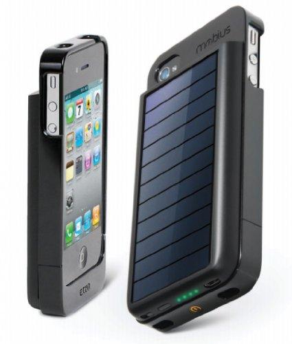 Eton イートン Mobius NSP300B iPhone4 iPhone4S用 充電式バッテリーケース ソーラーパネル付き