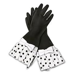 Buy Grandway Honduras Gloveables Black Black Dot with White Bow by Grandway Honduras