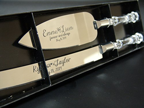 personalized-wedding-cake-knife-and-server-set-with-faux-crystal-handles