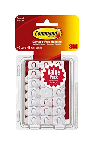 Command Decorating Clips Value Pack with White Strips