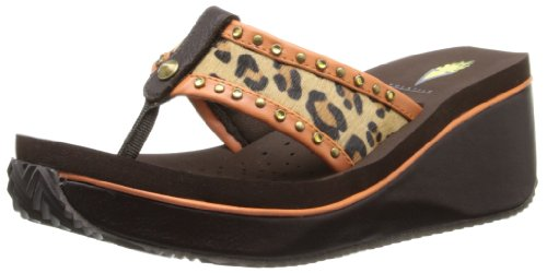 Volatile Women'S Pretender Wedge Sandal,Orange,8 B Us front-485725