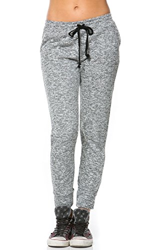 Comfy Drawstring Jogger Pants in Gray