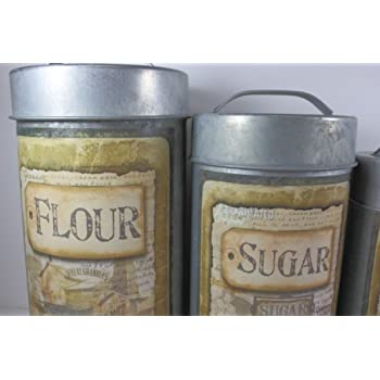 Vintage Decorative Canister Set Buttermilk - 4/set
