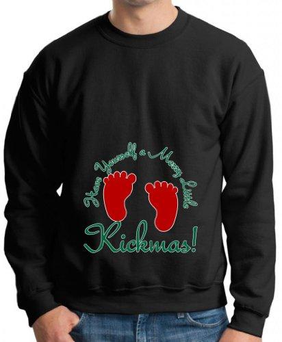 Have Yourself Merry Little Kick-Mas Maternity Theme Premium Crewneck Sweatshirt Medium Black