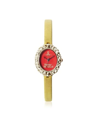 Vivienne Westwood Women's VV 005 Rococo Yellow/Red Stainless Steel Watch