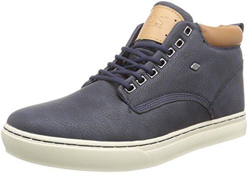 British Knights Wood, Sneaker alta uomo, Blu (Blau (Navy-Cognac 04)), 44