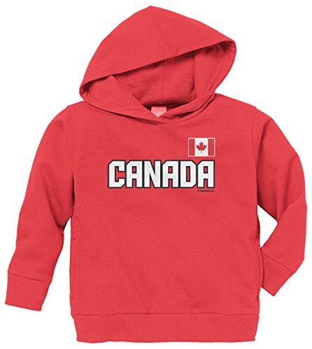 Threadrock Little Boys' Canada National Team Toddler Hoodie Sweatshirt 5/6 Red front-1027538