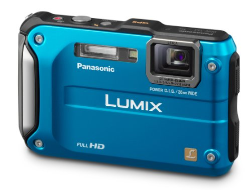Panasonic Lumix DMC-TS3 12.1 MP Waterproof Digital Camera with 4.6x Optical Zoom and 2.7-Inch LCD, GPS, 3D  (Blue)