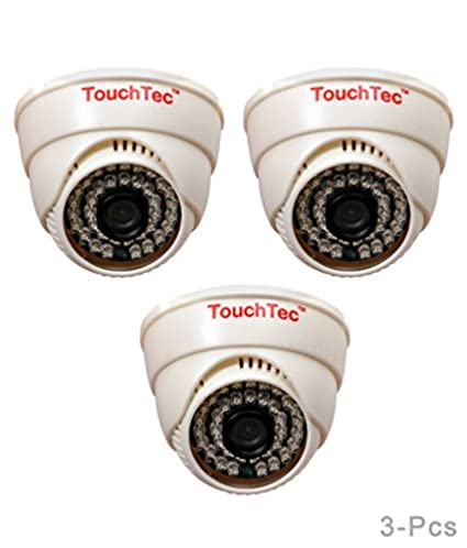 TouchTec 800TVL 36LED 3.6mm Lens (3Pcs) Dome IR Camera