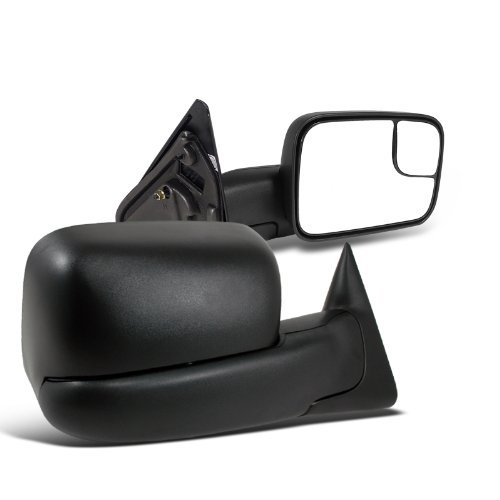 Discover Bargain Dodge Ram 1500 2500 3500 Manual Tow Towing Fold Out Black Side Mirrors