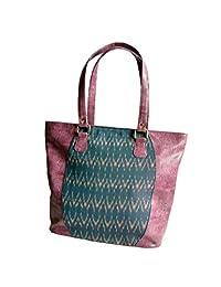 StruT Women's Ikat Print Handbag Purple STSBP06