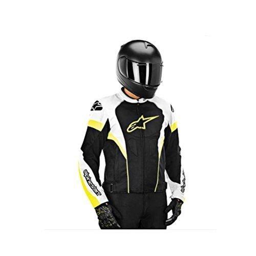 Alpinestars T-GP Plus R Air Textile Motorcycle Jacket Black/White/Fluorescent Yellow Large 3300614-125-L