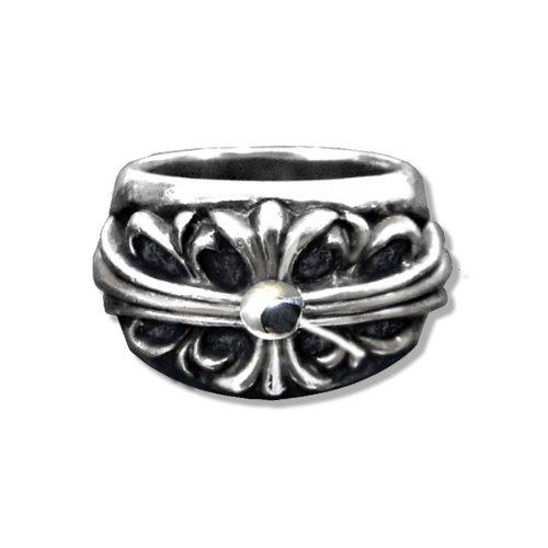 [クロムハーツ] フローラル クロス シルバー リング / CHROME HEARTS floral cross silver ring [並行輸入品]