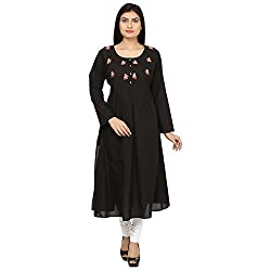 Bhama Couture Black & Red Kurta