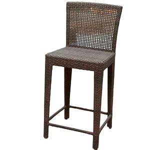 Great Deal Furniture Arizona Outdoor Wicker Bar Stool Garden