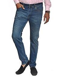 Scorzio Men's Regular Fit Jeans (SZ0008_2_Blue_32)