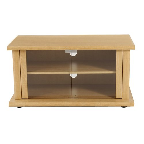Maple-Finish TV Stand