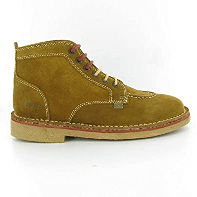 Kickers - Ledgendary Suede Ankle Boots, Tan Suede, 12 UK Adult
