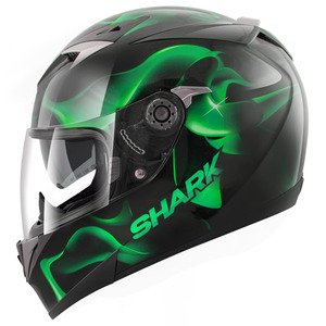 HE0975EKGKM - Shark S900-C Glow 3 Motorcycle Helmet M Green (KGK)