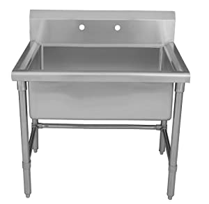 Utility Sink Stainless Steel Freestanding : ... Freestanding Laundry Utility Sink Brushed Stainless Steel WHLS3618
