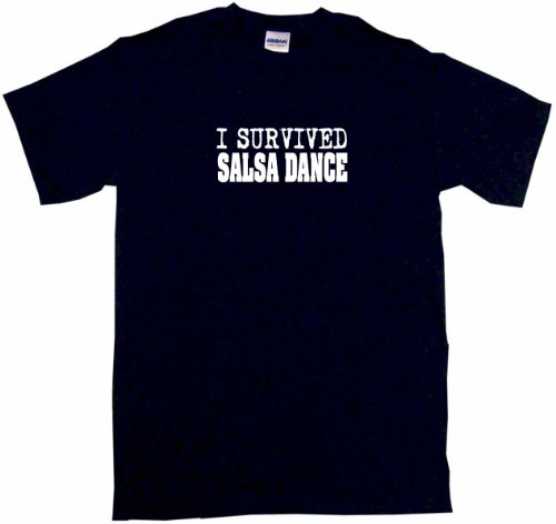 I Survived Salsa Dance Men'S Tee Shirt 2Xl-Black