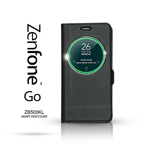 asus-zenfone-go-5-etui-portefeuille-icase-smart-view-zb500kl-fermeture-magnet-protection-vitre-noir
