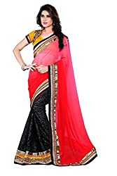 Bikaw Women's Georgette Saree (RS_Premleela_1306_Multicolor_Free Size)