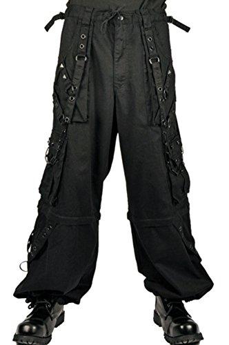 Tripp Gothic Bondage Cyber Goth Rave Techno Baggy Jeans Pants (XS – 30)
