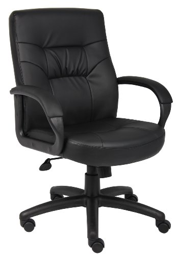 boss-executive-leatherplus-mid-back-chair-with-padded-arm-rests