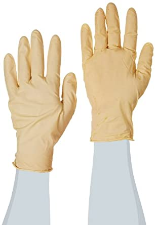 "Microflex CE5-429 Latex Glove, Powder Free, Silicone Free, 9.5"" Length, 5.1 mils Thick"