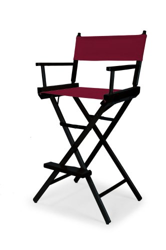 Telescope Casual Heritage Bar Height Director Chair, Burgundy with Black Frame