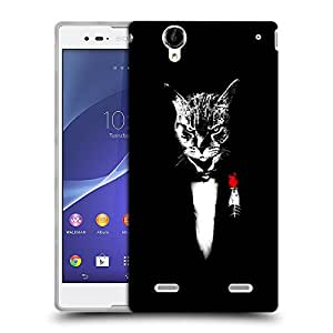 Snoogg Angry Cat Designer Protective Back Case Cover For SONY XPERIA T2 ULTRA