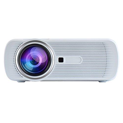 Yuntab-Portatile-Proiettore-led-Mini-Home-Theater-LED-Video-proiettore-1080P-1200-Lumens-800480-Risoluzione-for-TV-Laptop-DVD-SD-XBOX-Android-TV-Box-Supporto-HDMI-USB-SD-AV-VGA-TV-Interfaccia-bianca