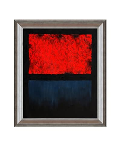 Mark Rothko No. 14 (Red, Blue Over Black) Framed Hand-Painted Reproduction
