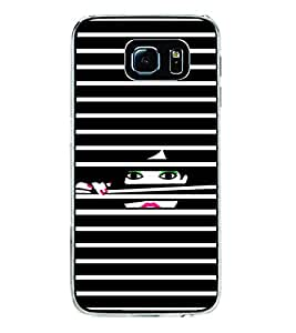Girl looking through Blinds 2D Hard Polycarbonate Designer Back Case Cover for Samsung Galaxy S6 G920I :: Samsung Galaxy G9200 G9208 G9208/SS G9209 G920A G920F G920FD G920S G920T