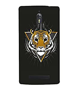 STUFFED TIGER FACE WITH BLACK BACKGROUND 3D Hard Polycarbonate Designer Back Case Cover for Oppo Find 7