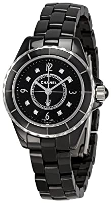 Chanel Women's H2569 J12 Black Ceramic Bracelet Watch
