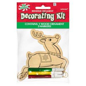 Reindeer Wood Ornament Decorating Kit