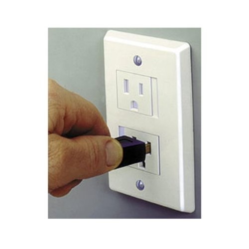 Safe Plate Electrical Outlet Covers Decora, White (2 Screws)