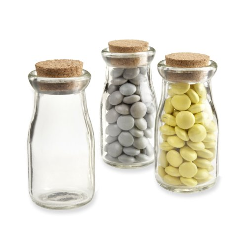 Mini Glass Milk Bottles