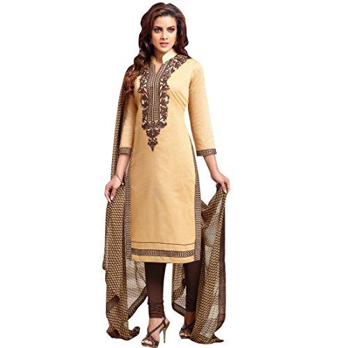 C&H Golden Yellow Designer Semi-Stitched Salwar Suits