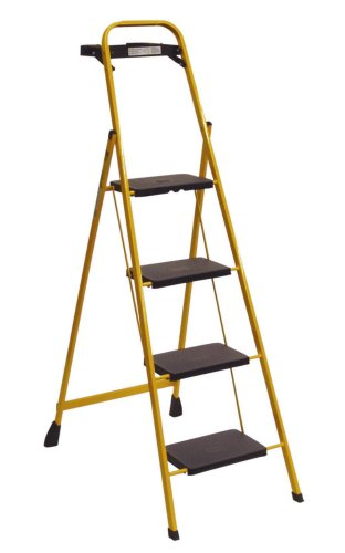 Buy TriCam Skinny Mini 200-Pound Duty Rating Four-Step Steel Stool with Tray #HSS-PL4-Y