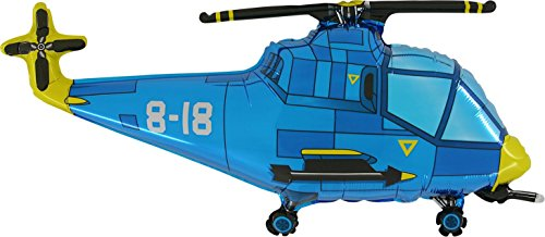"37"" Blue Helicopter Foil Balloon - As Seen In The 50 Shades Of Grey Movie"