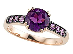 Genuine Amethyst Ring by Effy Collection 14kRose Gold Size 5