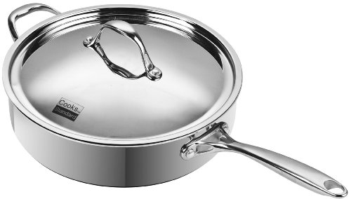 Cooks Standard Multi-Ply Clad Stainless-Steel 5-Quart 11-Inch Covered Deep Saute Pan