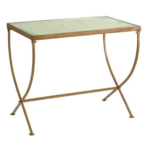 Buy Low Price Kensington Iron Antique Mirror Gold Rectangle End Table (B009KOJ13O)