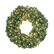 42 Pre-Lit Douglas Fir Artificial Christmas Wreath - Clear Dura Lights