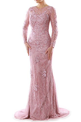 MACloth-Women-Mermaid-Long-Sleeve-Lace-Evening-Formal-Gown-Wedding-Party-Dress